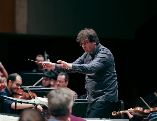 WNO Orchestra practise at St Davids Hall Cardiff 20th March 2017 Pic Gareth Iwan Jones