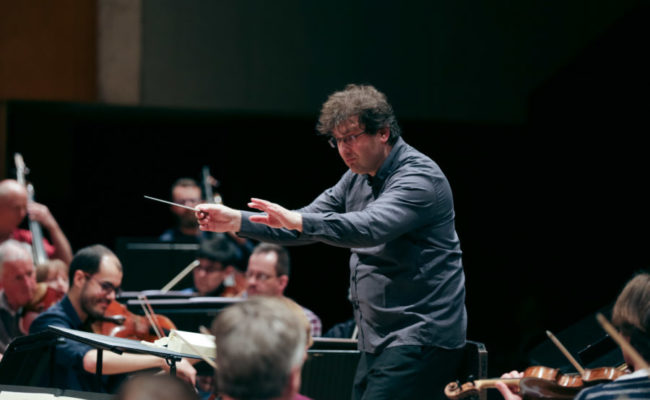WNO Orchestra practise at St Davids Hall Cardiff